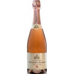 Coffret Perle Rosée 1 Bouteille & 2 Flutes signées Champagne Alexandre Bonnet Bouteille