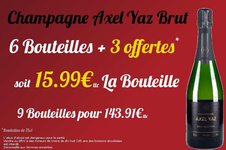 Axel Yaz 6 Bouteilles + 3 Gratuites
