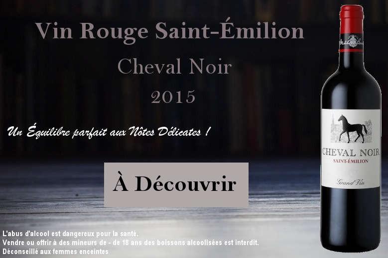 Saint Émilion Cheval Noir Vin Rouge Mahler Besse